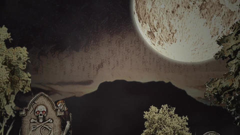 Sand Halloween Apple Motion Template