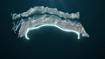 Flow particle on a car shape After Effects Project