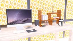 電腦桌置物架,書架。 3D Modell