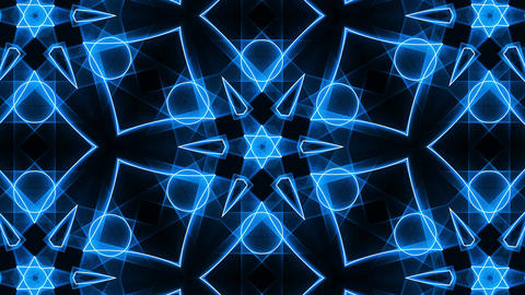 VJ Fractal blue kaleidoscopic background. Seamless loop Animation