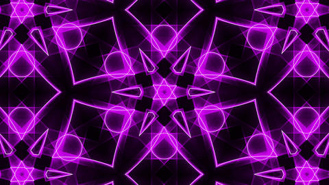 Purple abstract background, kaleidoscope Seamless loop Animation
