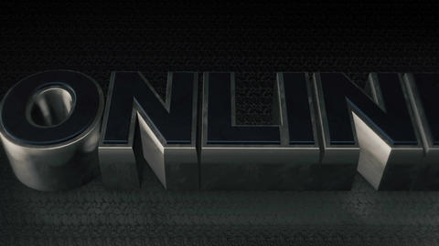 Metal 3D Text ONLINE with reflection and light Animation