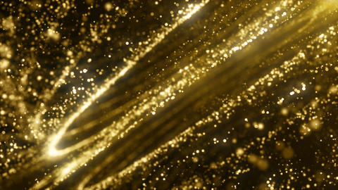 Particles gold glitter bokeh award dust abstract background loop 74 Animation