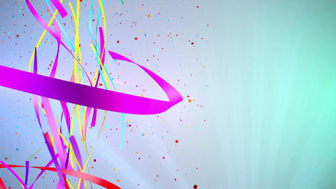Ribbon Party Background (4) Animation