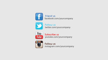 Social Promotion Logo Opener After Effects Templates