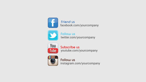 Social Promotion Logo Opener After Effects Template