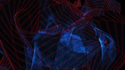 Abstract geometric. Futuristic background. Colorful technology backdrop. 3D rend Photo