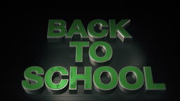 Metal 3D Text Back to school with reflection and light Photo