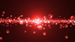 Abstract motion background, shining lights and particles フォト
