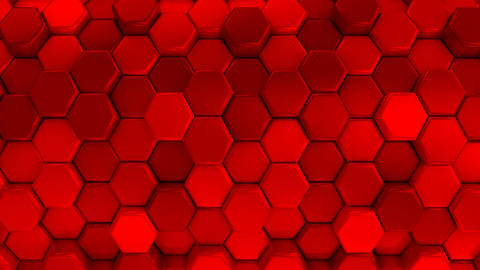 Animated Red Honeycombs Animation