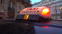 Paris 26 Jan 2017 Sign On Taxi In Paris Footage