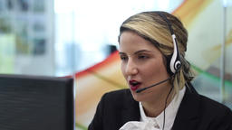Humiliated call center agent quite Footage