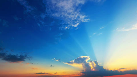 time lapse of clouds with the sun Stock Video Footage