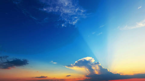 Time Lapse Of Clouds With The Sun stock footage