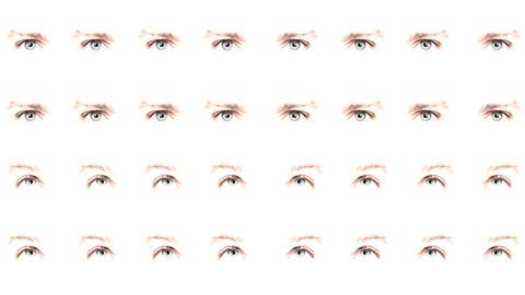 Multiple eyes 04 Stock Video Footage