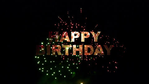 happy birthday fireworks 02 Stock Video Footage