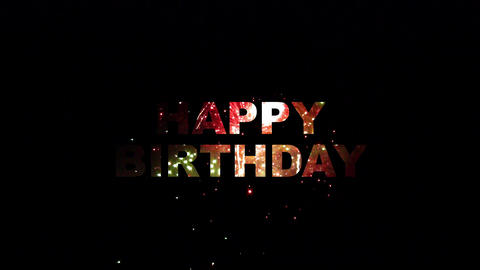 happy birthday fireworks 02 Animation