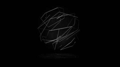 Green Lines Sphere Animation