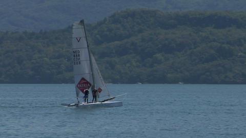 catamaran 01 e Stock Video Footage