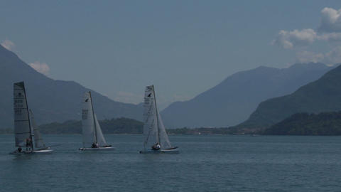 catamaran 03 e Stock Video Footage