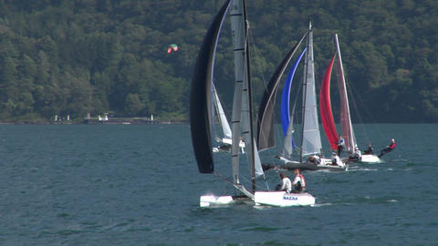 catamaran 11 e Stock Video Footage