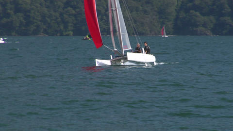 catamaran 13 e Stock Video Footage