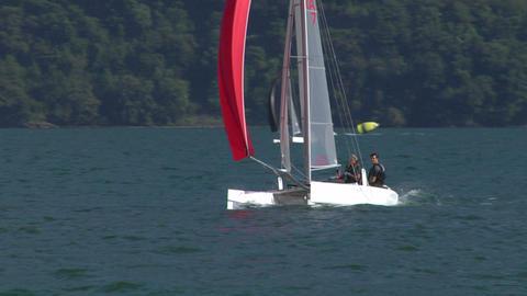 catamaran 13 e Stock Video Footage