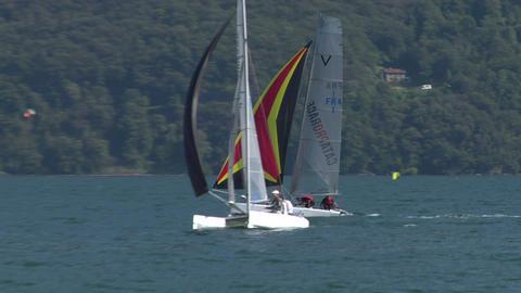 catamaran 15 e Stock Video Footage