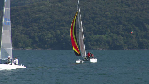 catamaran 15 e Stock Video Footage