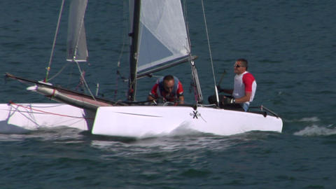 catamaran 19 e Stock Video Footage