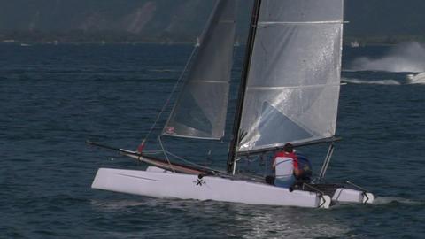 catamaran 19 e Stock Video Footage