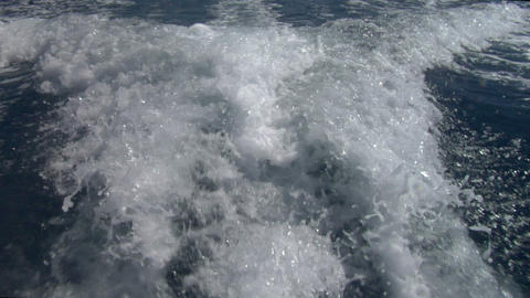 wave boat 01 Stock Video Footage
