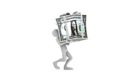 Carrying Gift Dollar Stock Video Footage