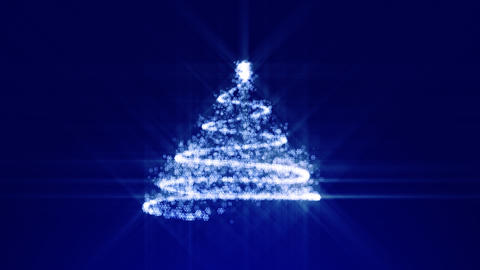 Shine Christmas tree background Animation