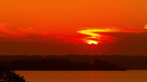 time lapse sunset at dusk Stock Video Footage