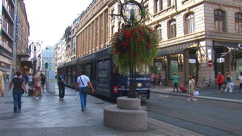 geneva tram 2 Stock Video Footage