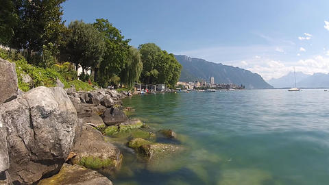 geneva lake 7 Stock Video Footage