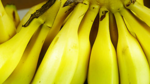 Rotation of delicious banana fruit plate Stock Video Footage
