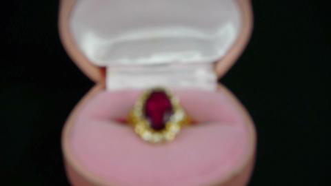 ruby diamond ring Stock Video Footage
