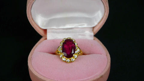 ruby diamond ring Stock Video Footage