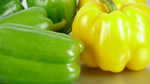 Delicious green peppers Stock Video Footage