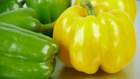 Fresh green peppers Stock Video Footage