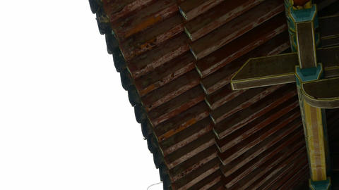 looking up roof eaves,China ancient architecture in... Stock Video Footage