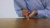 Businessman Shoots Marble Imagination Footage