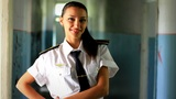 cadet girl posing for the camera Footage