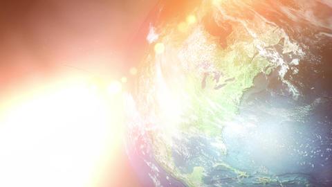 Sputnik Space Satellite Orbits North America Stock Video Footage