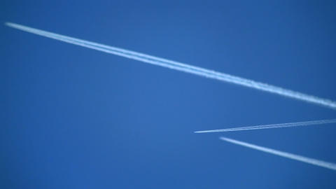 plane trails 04 Stock Video Footage