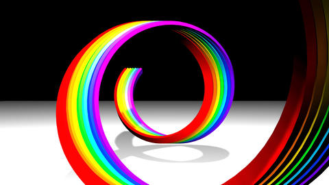 Rainbow Spiral Stock Video Footage