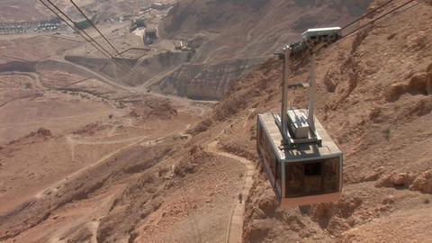 cableway on Mount Masada 2 Footage