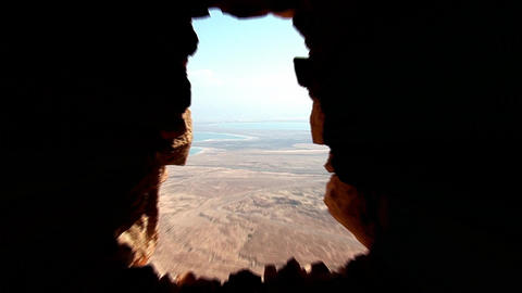 View from Masada s Stock Video Footage